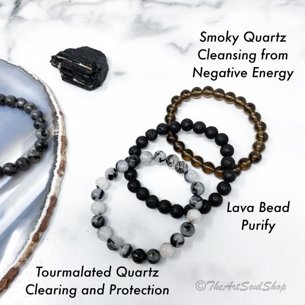 Gemstone Crystal Intention Bracelets Stretch for Bohemian Minimal Modern Accessories