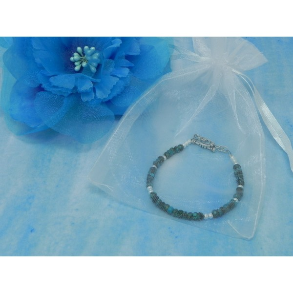 The Purification Bracelet- Turquoise December Birthstone Zodiac with Sterling Silver Clasp