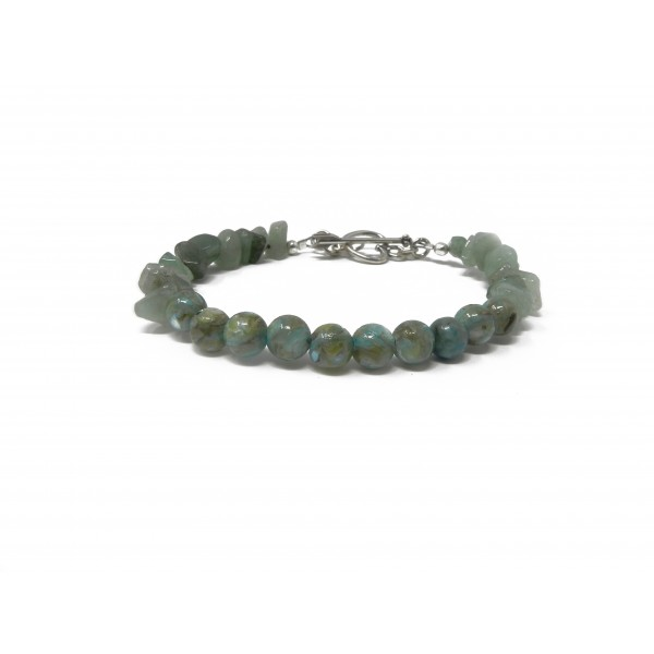 The Healthy Heart Bracelet- Aventurine and River S...