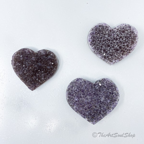 Amethyst Heart for Universal Love, Protection, and...