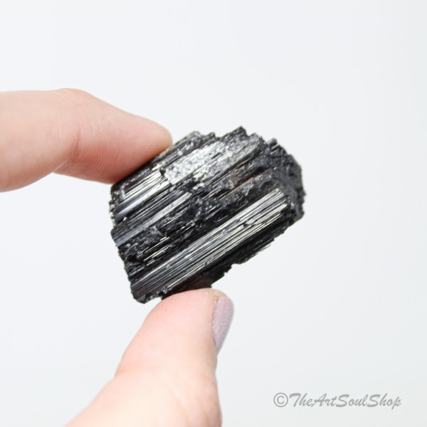 Black Tourmaline Protection Grounding Raw Tumbled Stone