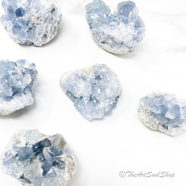 Positivity and Calmness Celestite Crystal Geode Th...