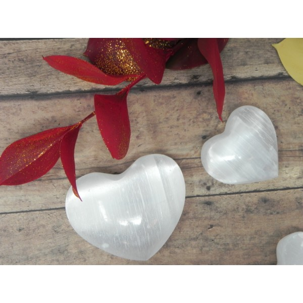 Selenite Heart Crystal