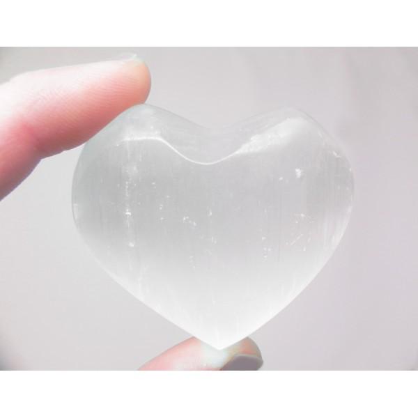 Selenite Heart Crystal