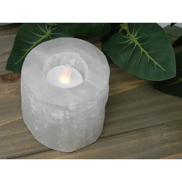 Selenite Crystal Candleholders