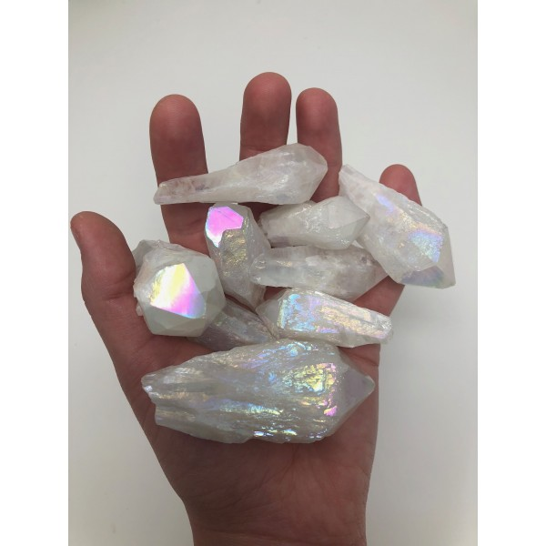 Aura Quartz Crystal Points