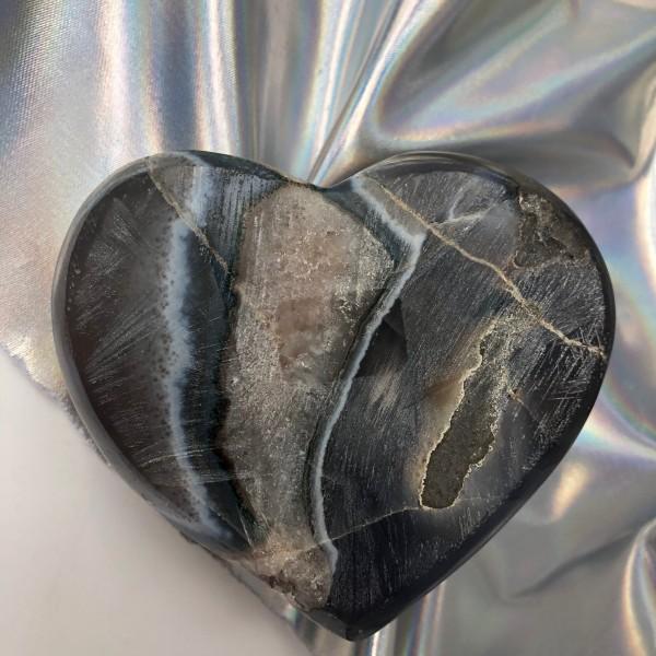Rainbow Aura Amethyst Heart