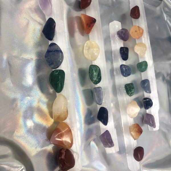 7 Gemstone Chakra Wand with FREE Chakra Book