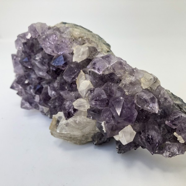 Large Display Amethyst with Chunky Calcite for Peace, Cleansing, Protection and Enlightenment