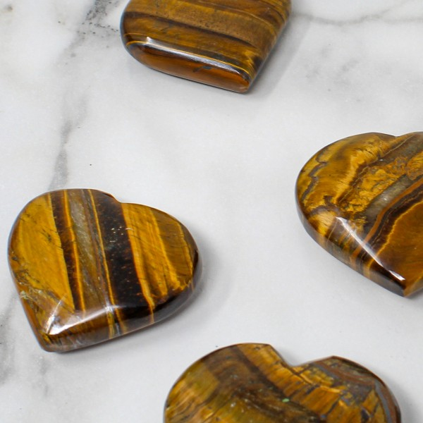 Tigers Eye Heart for Confidence Boost and Intuition