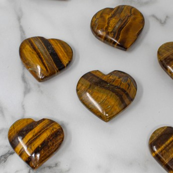 Tigers Eye Heart for Confidence Boost and Intuitio...