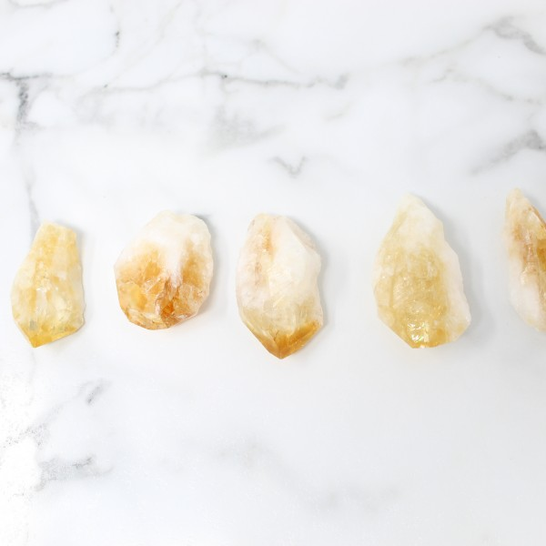 Larger Raw Citrine Crystals Happiness Stones