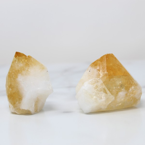 Happiness Stones Polished Citrine Points Crystals