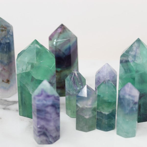 Rainbow Fluorite Tower for Heart and Mind Clarity