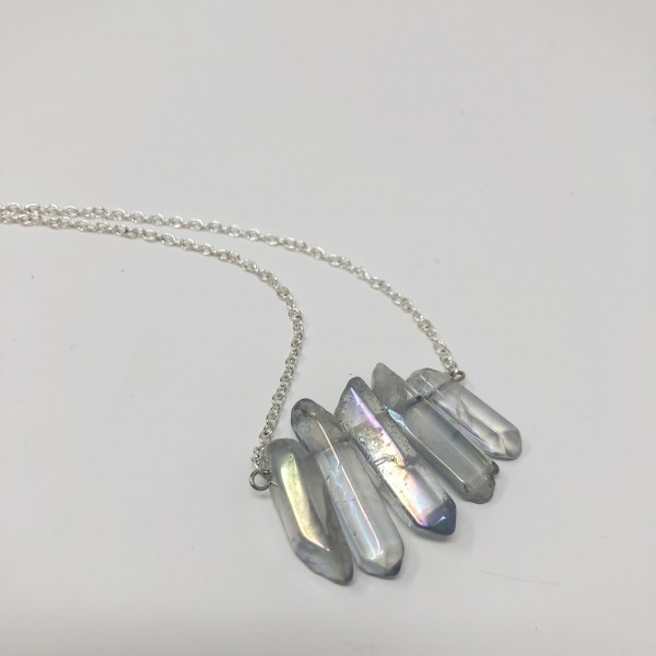 Handcrafted Aura Quartz Necklace