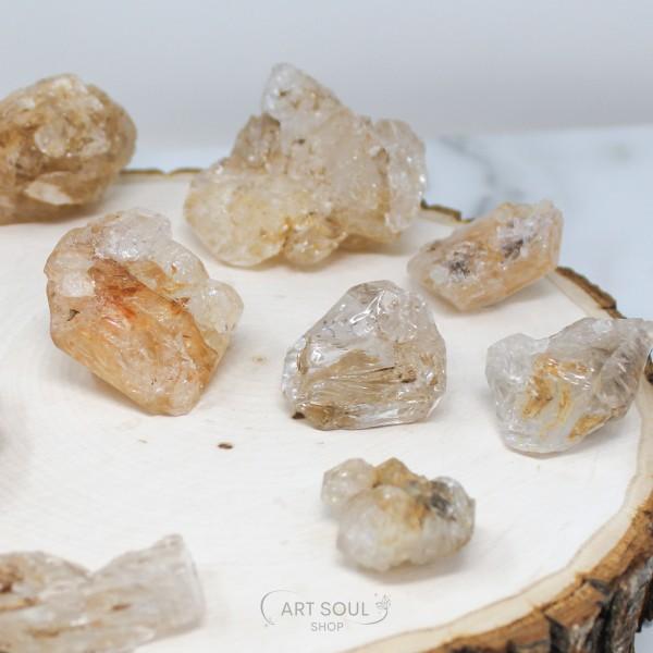 Elestial Quartz Angel Energy, Awakening, Introspective Smoky Clear Cluster Crystal