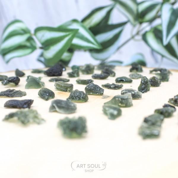 Moldavite Transformation Stone Starborn Meteorite Healing Manifesting Czech Republic