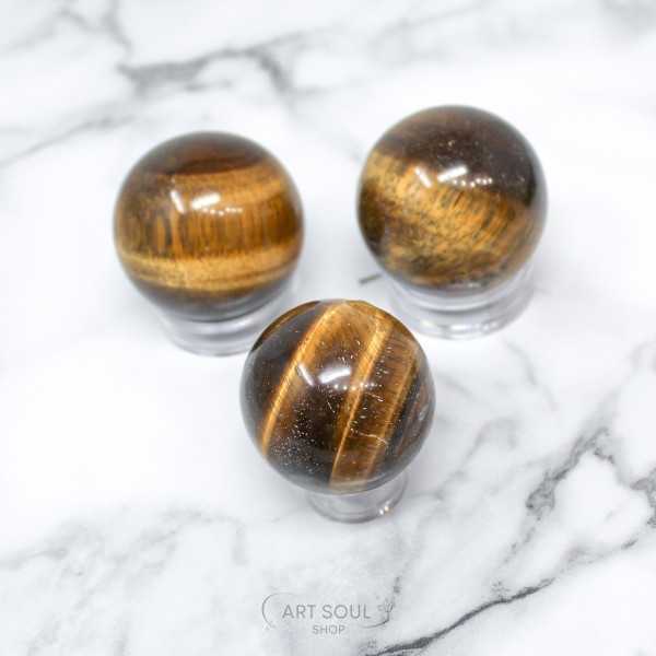 Tigers Eye Sphere for Confidence Boost, Intuition,...