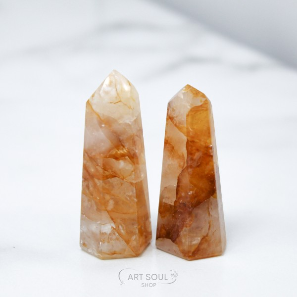 Golden Healers Crystal Point, Healing, Creation, H...