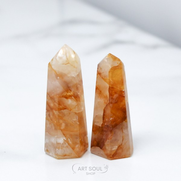 Golden Healers Crystal Point, Healing, Creation, Happiness Polished Point