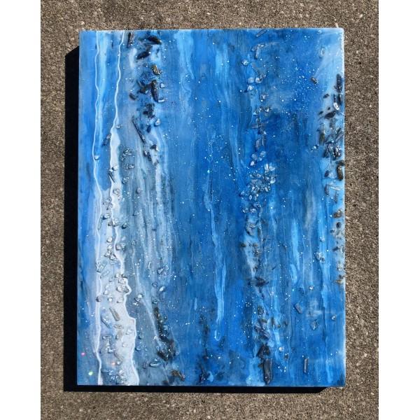 Kyanite Resin Geode Painting